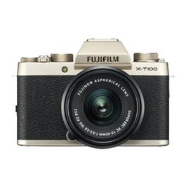 Fujifilm X-T100 mirrorless digital camera + 15-45mm XC lens Champagne Thumbnail Image 1