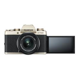 Fujifilm X-T100 mirrorless digital camera + 15-45mm XC lens Champagne Thumbnail Image 3