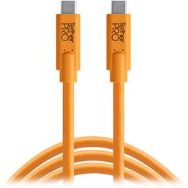 Tether Tools TetherPro USB-C to USB-C Orange 15 Feet (4.6m) Thumbnail Image 0