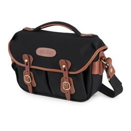 Billingham Hadley Small Pro Shoulder Bag - Black Canvas/Tan thumbnail