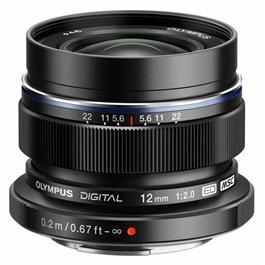 Olympus M.Zuiko Digital ED 12mm f/2 Wide Angle Lens - Black thumbnail