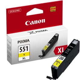 Canon CLI-551 XL Yellow 11ml Ink Tank thumbnail