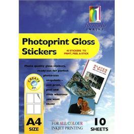 Formula 1 Photoprint Gloss Stickers A4 10 Sheets thumbnail