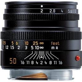 Leica 50mm f/2 Summicron-M Black Lens thumbnail