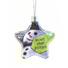 Adventa Christmas Photo Frame Star Ornament thumbnail