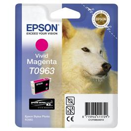 Epson Husky Vivid Magenta Ink T0963 for R2880 thumbnail